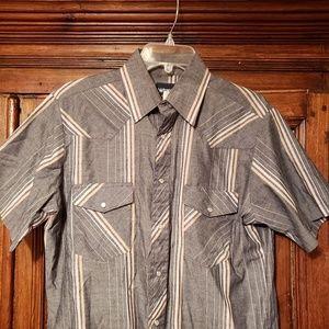 Vintage Wrangler Pearl Snap Western Shirt Cowboy M